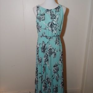Jessica Howard long blue floral dress Size 10p